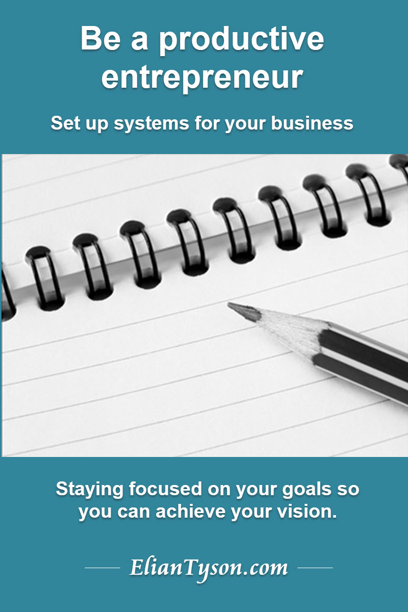 Read more about the article Be a productive entrepreneur… set up systems for your business